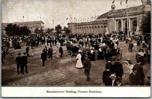 1910s CANADIAN NATIONAL EXHIBITION Toronto Canada Postcard Manufacturer's Bldg