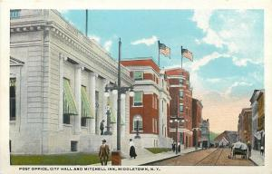 Middletown New York~Post Office~City Hall~Mitchell Inn~Covered Wagon~1920s