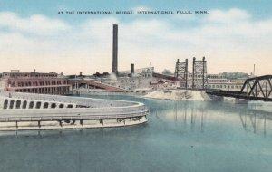 INTERNATIONAL FALLS, Minnesota, 1930-40s; At the International Bridge