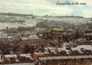 Israel Jerusalem in The Snow St Peter in Gallicantu General view Postcard