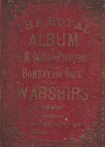 Royal Album Of Indian Bombay Warships Postcard Ship Photo Victorian Edwardian...