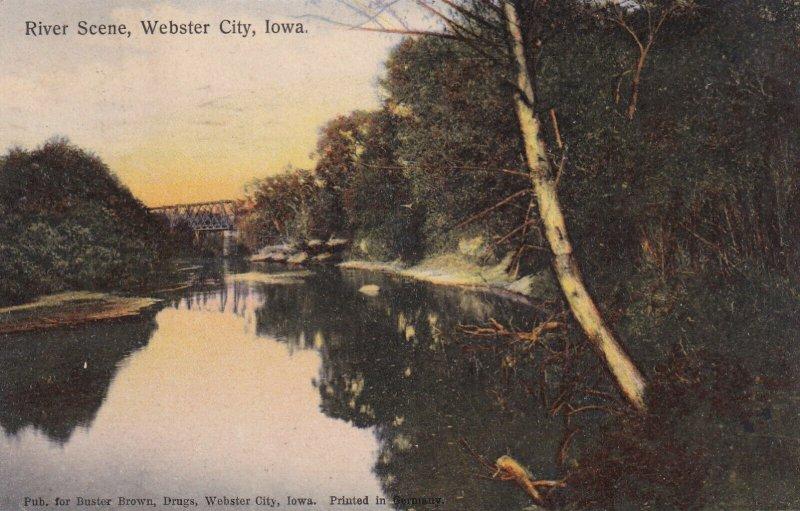 WEBSTER CITY, Iowa, PU-1908; River Scene