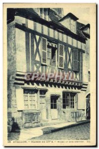 Old Postcard Avallon Maison Du 15eme