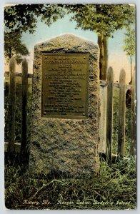 Kittery Maine~Badger Island~Ranger Tablet Sloop of War~Rock Monument~Fence~c1910
