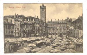 Piazza Erbe, Verona (Veneto), Italy, 1900-1910s