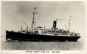 S.S. Scythia Cunard White Star Line Ship Unused