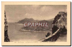 Old Postcard Corsica Gulf of Porto View taken of Creeks