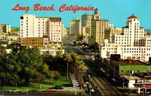 California Long Beach Looking East Along Ocean Boulevard