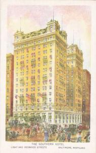 The Southern Hotel - At Light and Redwood Streets - Baltimore MD, Maryland