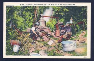 Typical Moonshiners & Still in the Mountains unused c1930's