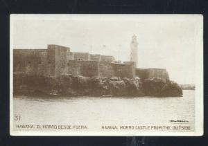 RPPC HABANA CUBA HAVANA MORRO CASTLE LIGHTHOUSE VINTAGE REAL PHOTO POSTCARD