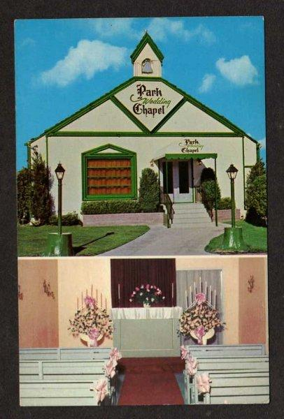 Nv Park Wedding Chapel Downtown Reno Nevada Postcard Pc