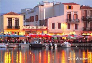 BG35706 crete rethymno ship bateaux taverna helona greece