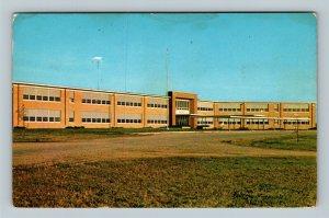 New Concord OH, John Glenn High School, Chrome Ohio Postcard