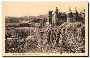 Old Postcard The Chateau du Saillant Pres Saint Flour Sioecle North frontage