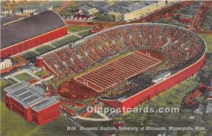 Memorial Stadium, University of Minnesota Minneapolis, Minnesota, MN, USA Unused