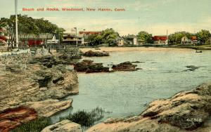 CT - New Haven - Woodmont, Beach and Rocks