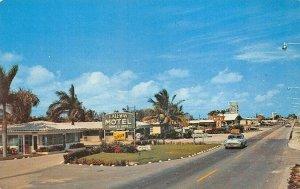 Ft Lauderdale FL Gateway Motel Old Cars Postcard
