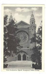 First Presbyterian Church, Greensboro, North Carolina, 1910-1920s
