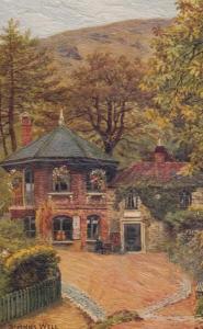St Annes Anns Well Malvern Worcester Village Worcs Oilette Antique Postcard