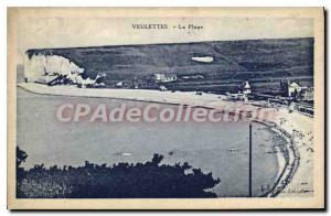 Old Postcard Veulettes The Beach