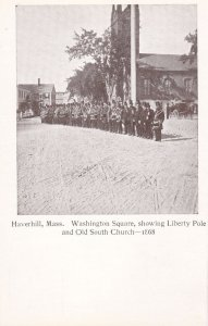 HAVERHILL , Massachusetts , 00-10s ; Washington Square,showing Liberty Pole