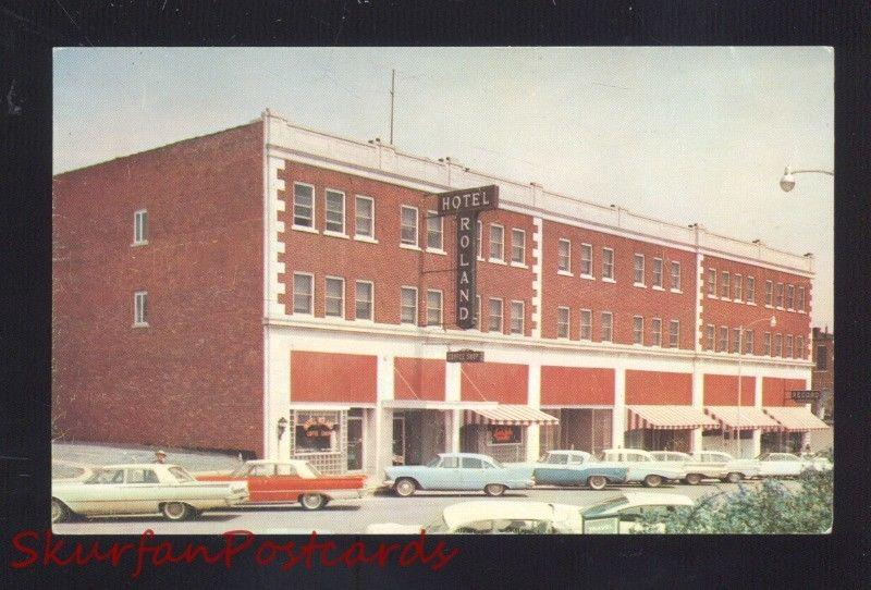 Bristow Oklahoma Route 66 Hotel Roland 1950 S Cars Old Advertising