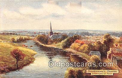 Stratford on Avon Postcard Post Card Shakespeare's Country