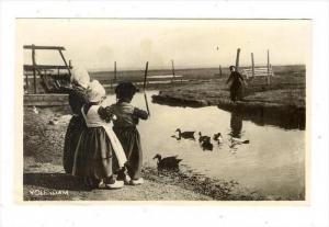 RP: Children feeding ducks , Volendam , Netherlands, 20-40s