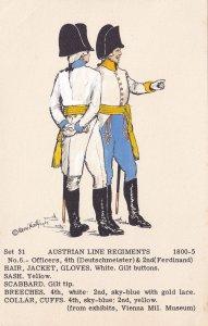 Austrian Line Regiment 2nd 4th Officers Ferdinand Napoleonic War Uniform Post...