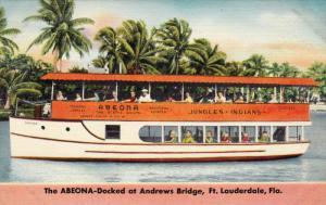 The ABEONA-Docked At Andrews Bridge, FT. LAUDERDALE, Florida, 1930-1940s