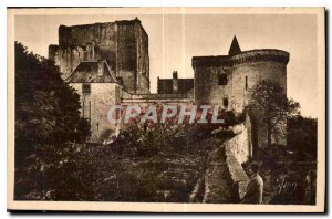 Old Postcard Chateaux of the Loire Chateau de Loches Indre et Loire the Dunge...