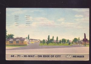 FORT SMITH ARKANSAS TERRY'S MOTOR COURT MOTEL LINEN ADVERTISING POSTCARD