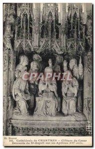 Old Postcard Cathedral of Chartres Closing Choir Descent of the Holy Spirit o...