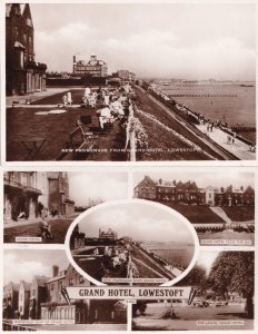 Grand Hotel Lowestoft Promenade From 2x Vintage Real Photo Postcard s