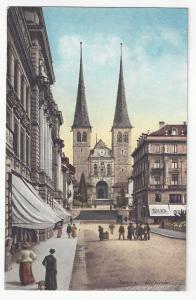 Switzerland Luzern Lucerne Hofkirche E Goetz ca 1910 Vintage Postcard