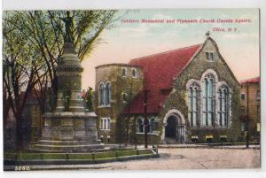 Utica NY - Soldiers Monument & Plymouth Church