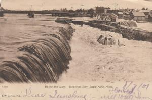 LITTLE FALLS, Minnesota, PU-1907; Below the Dam