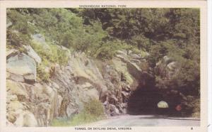 Virginia Tunnel On Skyline Drive Shenandoah National Park