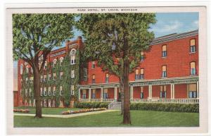 Park Hotel St Louis Michigan 1940s linen postcard