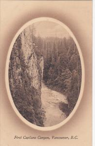 VANCOUVER, British Columbia, Canada, 1900-1910's; First Capilano Canyon
