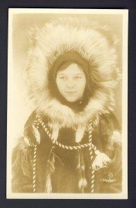 Eskimo girl - Yukon? Alaska? 1936 RPPC