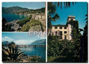 Postcard Modern Hotel Castello Seeschloss Ascona