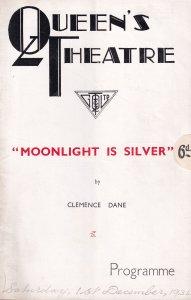 Moonlight Is Silver Clemence Dance Helen Haye Queens Theatre Programme