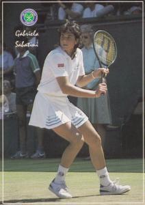 Gabriela Sabatini Argentina Wimbledon Tennis Champion Postcard