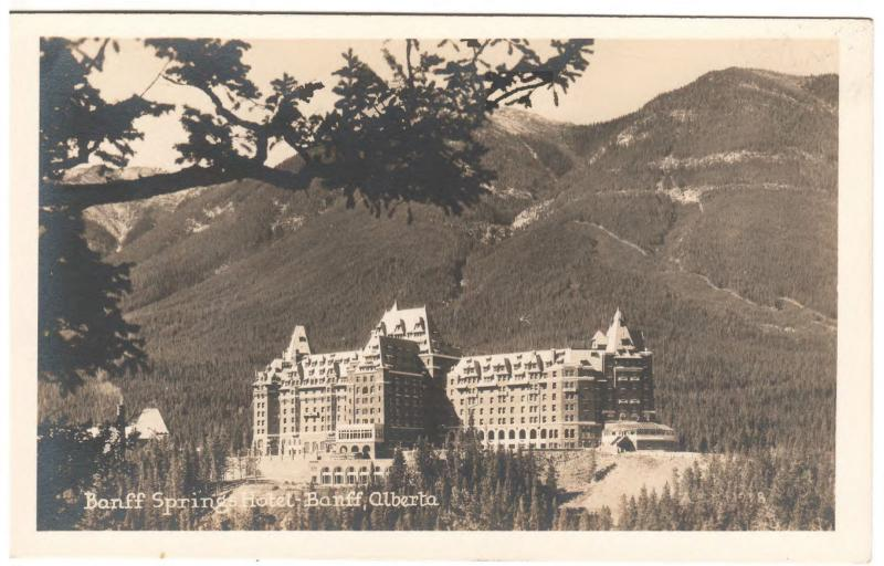 BANFF SPRINGS ALBERTA CANADA THE HOTEL BANFF REAL PHOTO POSTCARD