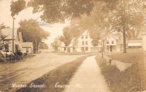 Canton Maine Village Square Real Photo Antique Postcard K83922