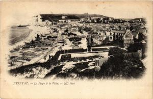 CPA ETRETAT-La Plage & La Ville (347735)