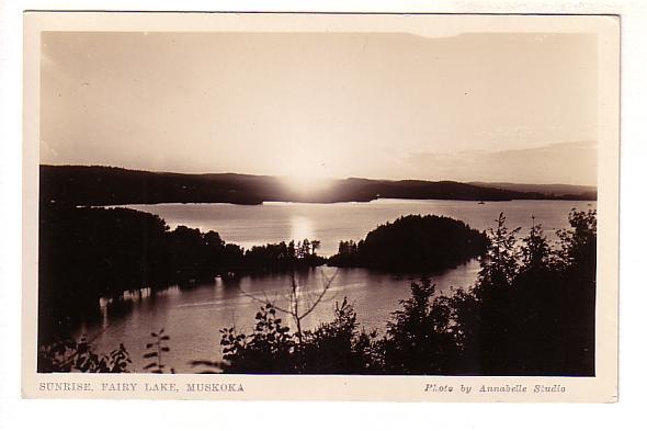 Real Photo, Sunrise, Fairy Lake, Muskoka, Ontario, Photo Annabelle Studio,
