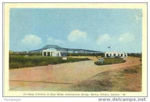 Driveway Entrance & Toll Booths? to Blue Water Bridge, Sarnia, Ontario, ON, 1943